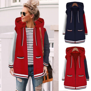 Fashion Casual Matching Hat Hoodie Coat Blue s