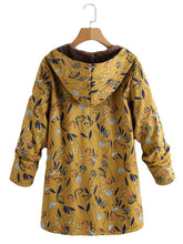 Fashion Casual Velvet And Thick Ethnic Printed Cotton Padded Coat