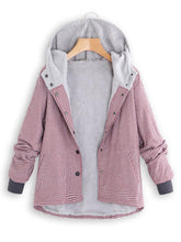 Fashion Casual National Style With Fleece Plaid Cotton-Padded Clothes Coat