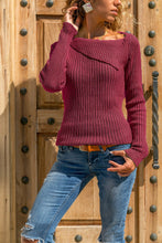 Casual Pure Color Slim Long Sleeve Knitted Sweater