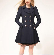 Casual Pure Color Commute Slim And Large Size Trench Coat