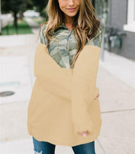 Casual Long Sleeved Cashmere Camouflage Sweat Blouse