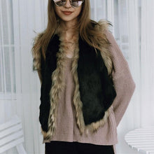 Fashionable Warm Imitation Fur Warm Vest Coat