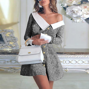 Fashion Off-Shoulder   Long Sleeve Coat Same As Photo 2xl