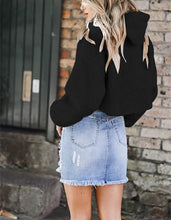 Casual Short Plush Hooded Sweater