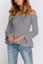 Casual Slim Sexy One Shoulder Long Sleeve Knit Blouse