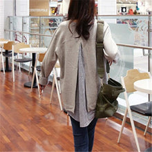 Casual Loose Two Fake Fleece Blouse