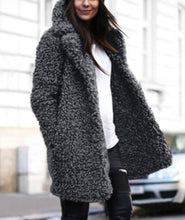 Casual Pure Color Lamb's Long Sleeve Loose Coat