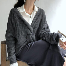 Casual Loose Pure Colour Knitted Sweater