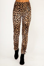 Casual Fashion Leopard Print Stretch Sports Pants