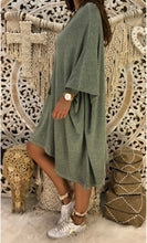 Casual Pure Color Oversize Dress Knitted Maxi Dress