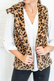 Casual Fashion Big   Yards Hooded Pocket Cashmere Leopard Print Vest Leopard Print xl