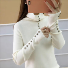 Casual Loose Long Sleeve Heaps Collar Knitting Sweater Blouse