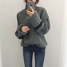 Casual To Add Long Sleeve Turtleneck Turtleneck Knitting Sweater