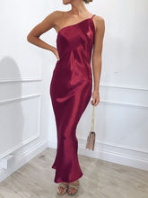 Casual Sexy One Shoulder Suspender Shown Thin Backless Maxi Dress