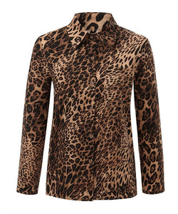 Fashion Leopard Print Long-Sleeved Shirt Same As Photo l