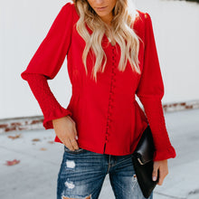 Fashion Pure Colour Long Sleeve Top