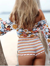 Casual Hollow Out Bikini Beach Blouse