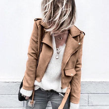 Fashion Long Sleeve Suede Fabric Button Jacket Coat
