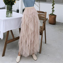 Fashion Pure Color Slim Show Thin Grenadine Skirt