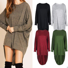 Fashion Pure Color Loose Medium And Long Sleeve T-Shirts