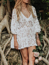 Vacation Lace Beach Swimwear Bikini Cover-Ups