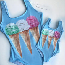 Sexy bikini ice cream print one-piece swimsuit