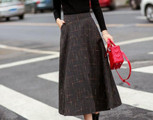 Fashion Plaid Skirt Full Skirt With Extra Thick A-Line Skirt