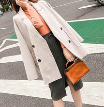 Fashion Loose Plain Color Coat