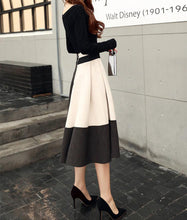 Fashion Round Collar Long-Sleeved Half-Skirt Two-Piece Set