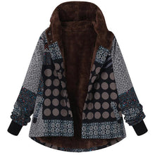 Casual Plaid Print Hooded Jacket