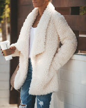 Fashion Casual Long Sleeved Half-Open Plush Cardigan