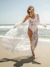 Sexy Lace See Through Beach Loose Cover-Ups