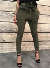 Casual Sexy Joker Pure Color Shown Thin Pencil Pants