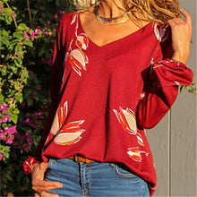 Casual Printing long sleeve t-shirts blouse