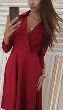 Casual Sexy v neck long sleeve Mini dress