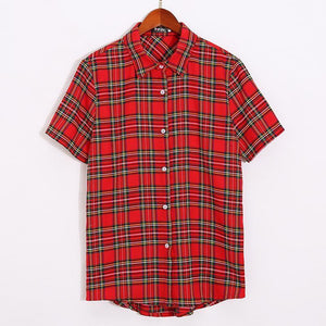 Plaid Falbala Family Outfits Red boy-120