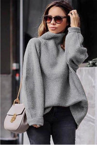 Casual Easy Turtleneck   Sweater Knitted Sweater