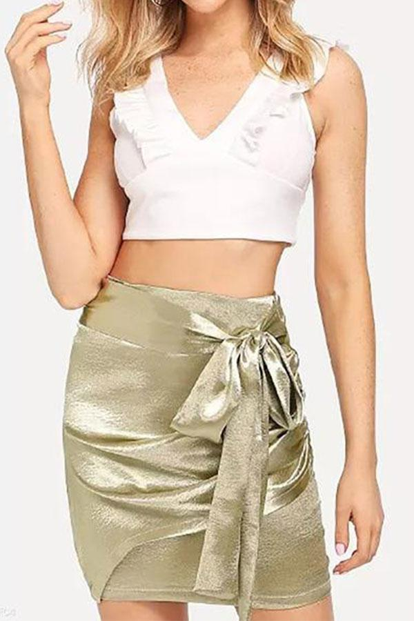 Sexy Gold Bow Tie Skirt same_as_photo s