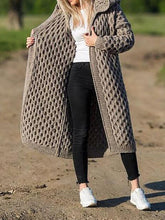 Womens Turndown Collar Solid Colour Cardigan