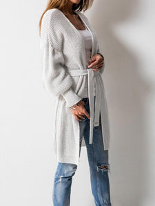 3 Colors Knitting Bandage Long Sleeves Cardigan Tops Default Title