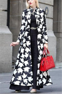 Autumn And Winter   Fashion Prints Warm Long Coats Same As Photo s