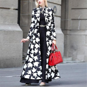 Autumn And Winter   Fashion Prints Warm Long Coats Same As Photo l