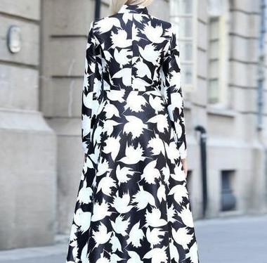 Autumn And Winter   Fashion Prints Warm Long Coats Same As Photo xl