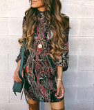 Autumn and winter   fashion high-collared long-sleeved hip dress Same As Photo m