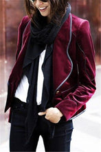 Autumn and winter fashion pure color short coat