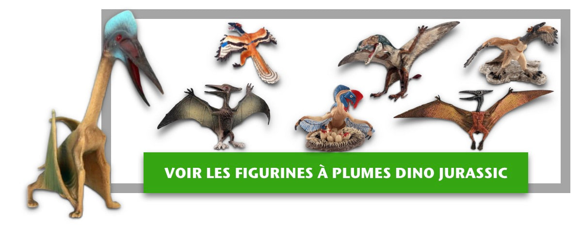 Figurines Dinosaures à Plumes