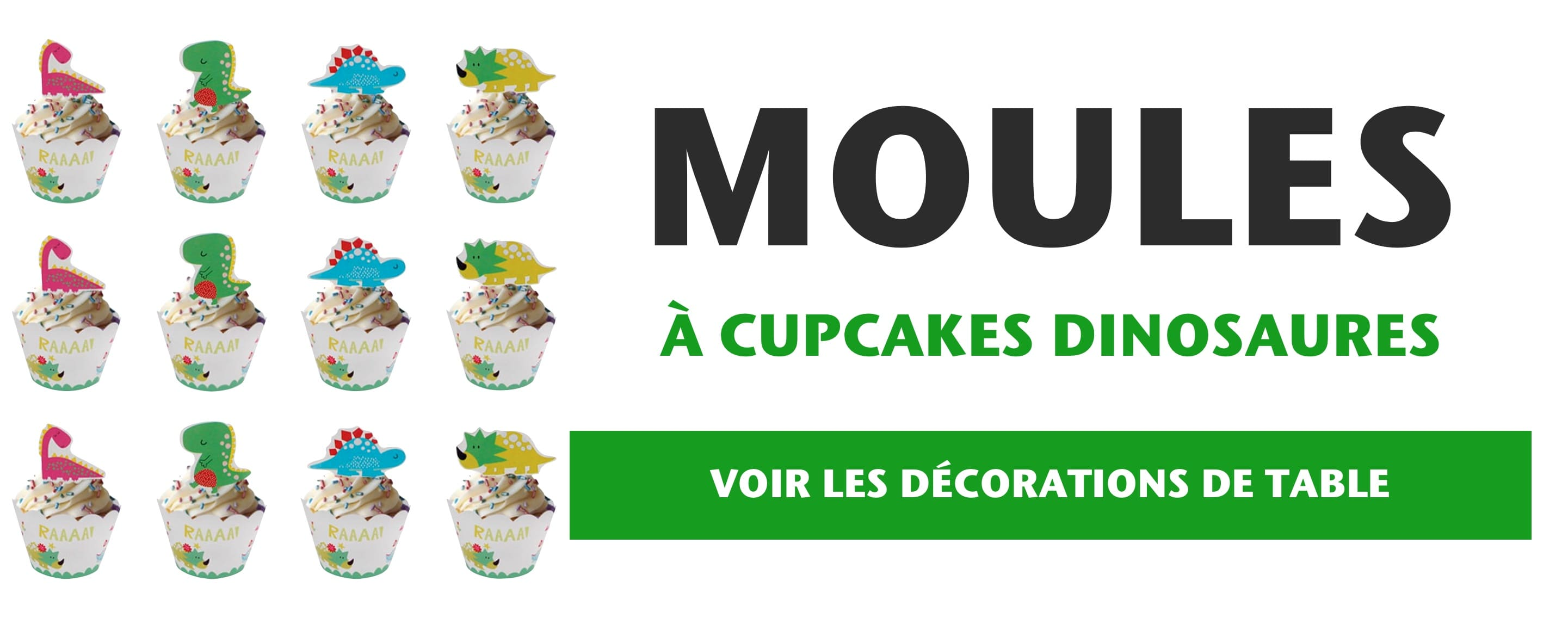 Moules a Cupcakes Dinosaures