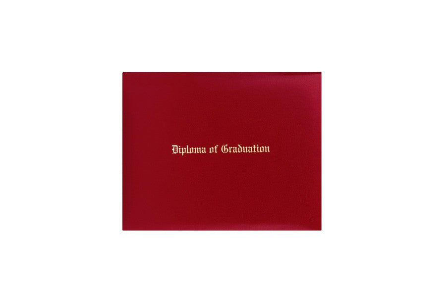 Red Imprinted Kindergarten Diploma Cover