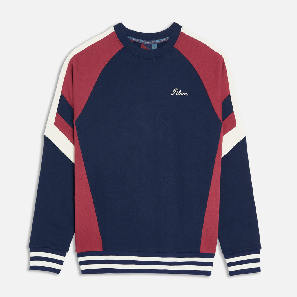 Navy Burgundy Peli Sweatshirt